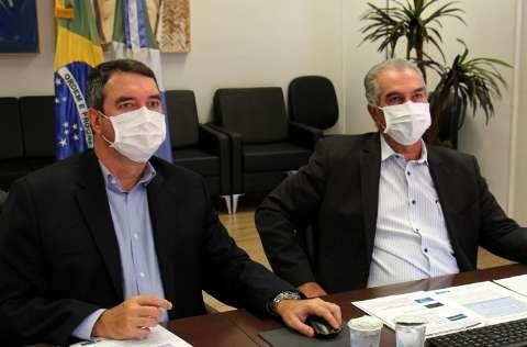 """""""Estamos saindo na frente"""", diz Reinaldo sobre projeto de concessão da Sanesul"""