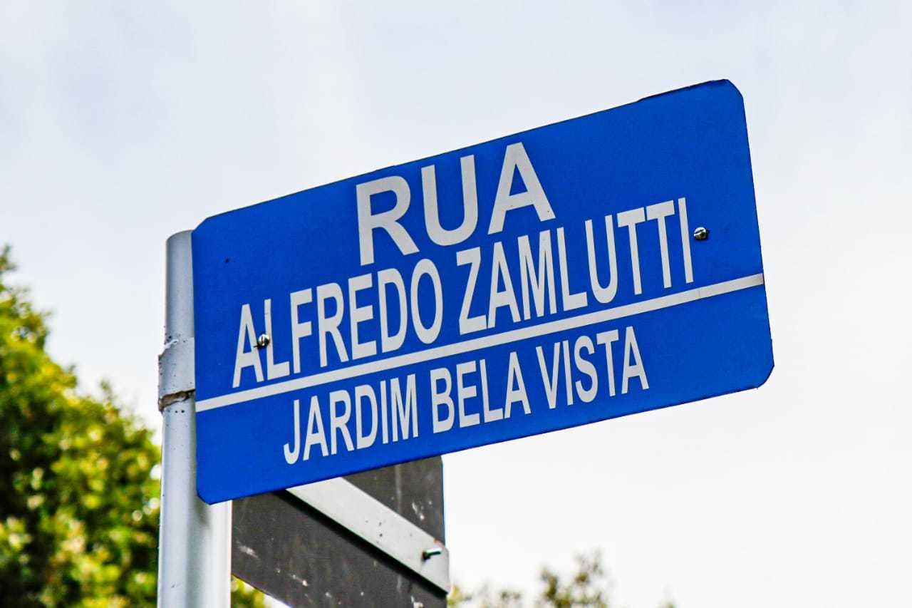Alfredo Zamlutti é o novo nome de rua no Jardim Bela Vista. (Foto: Henrique Kawaminami)