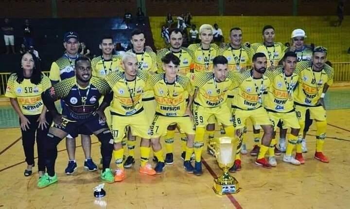 Time de Dourados, campeão estadual de futsal (Foto: Divulgação)