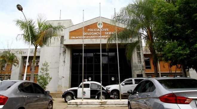 Sede da Polícia Civil, em Campo Grande (Foto: Saul Schramm - Governo MS)