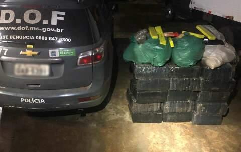 DOF apreende 450 kg de drogas durante fiscalização na MS-156