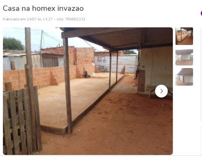 Com IPTU zero, casa de invasão da Homex é vendida a 15 mil na OLX