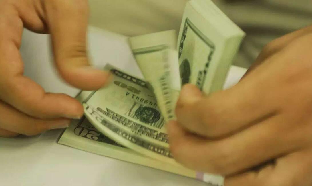 Notas de dólares sendo contadas. (Foto: Agência Brasil)