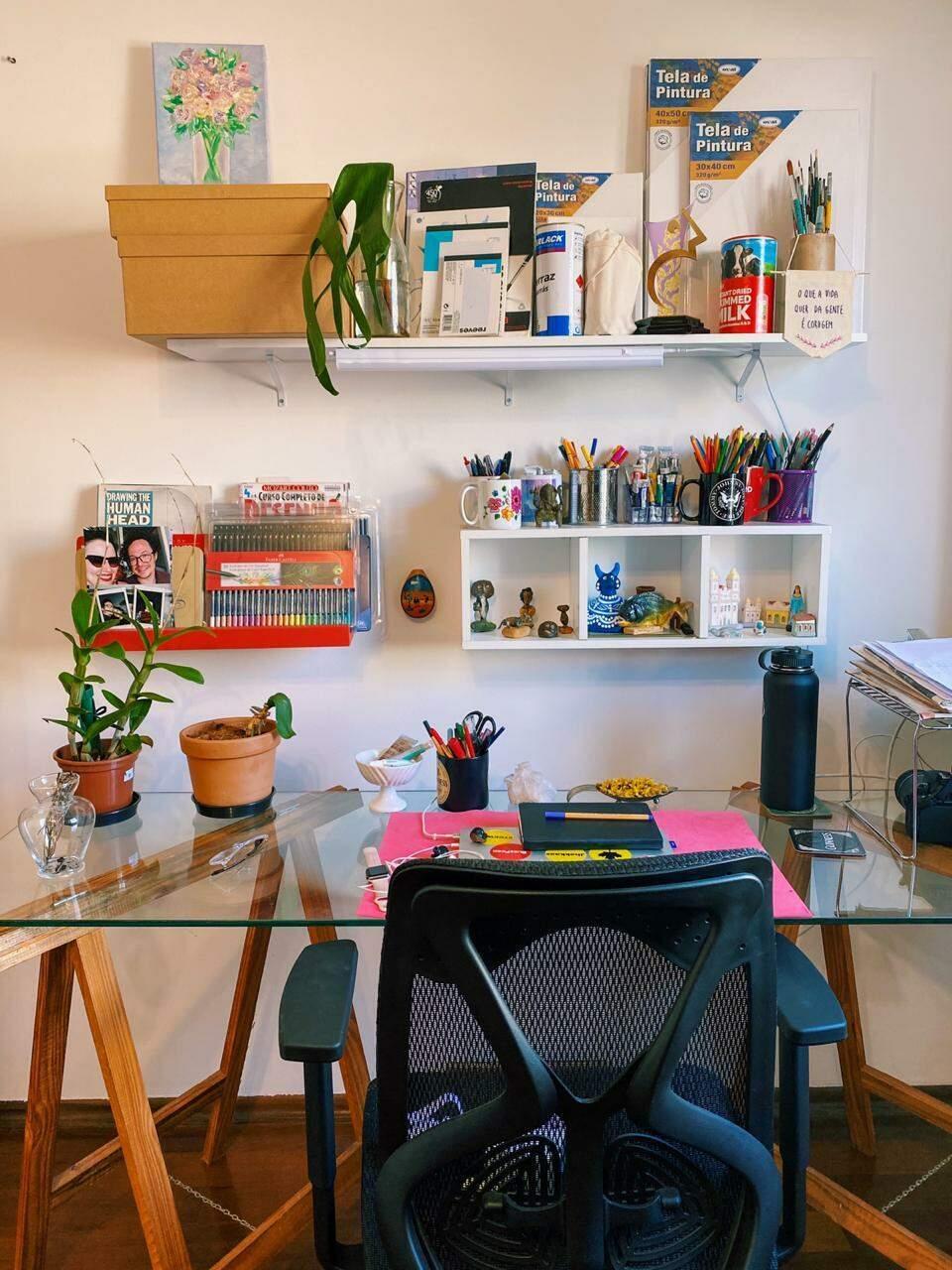 Home office descontraído. (Foto: Manuela Barem)