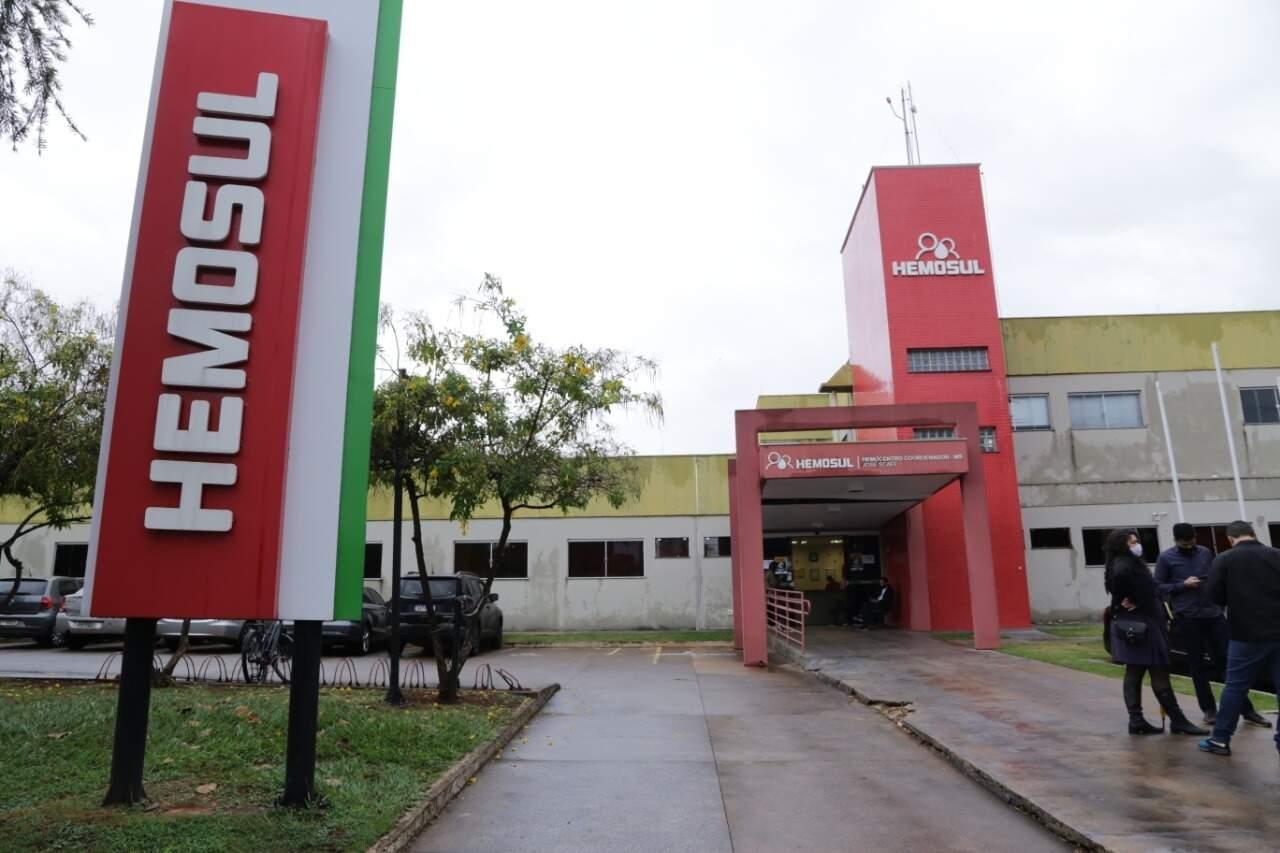 Fachada do Hemosul de Campo Grande- MS (Foto:Kisie Anoã/ Arquivo)
