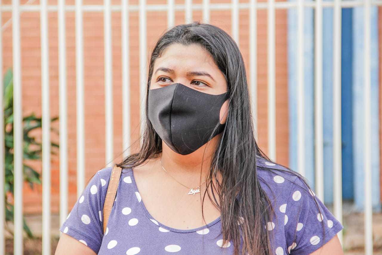 Ligia não recebeu encomenda em casa e descobriu greve chegando à Central de Distribuição. (Foto: Silas Lima)