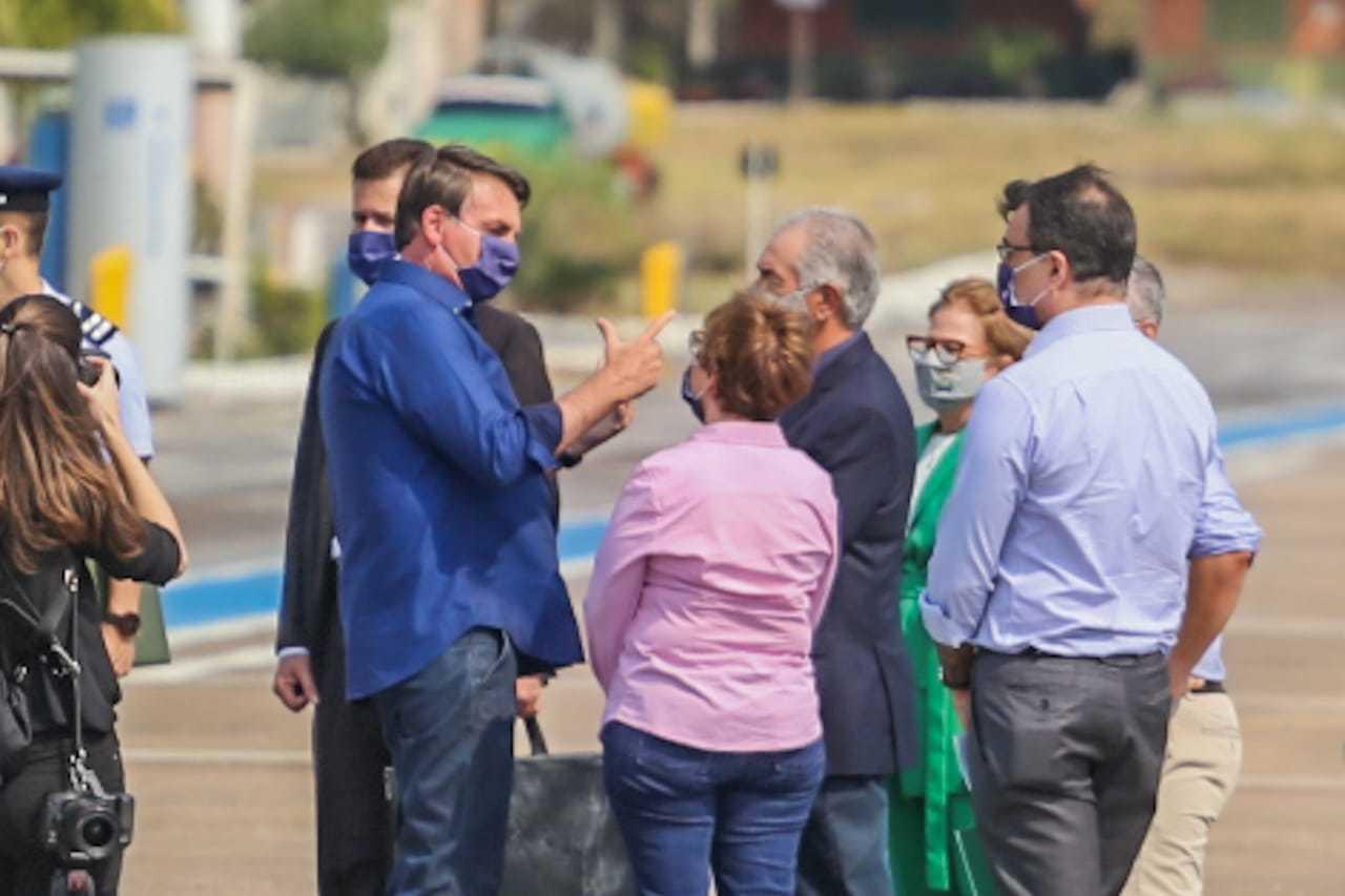 Bolsonaro com Tereza Cristina e Reinaldo Azambuja (Foto: Marcos Maluf)