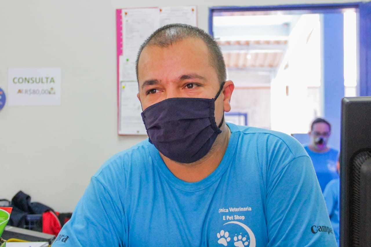 Ricardo Miranda Moreira, de 35 anos, disse que gastos continuaram estabilizados durante pandemia. (Foto: Silas Lima)