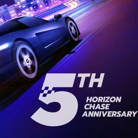 Horizon Chase comemora seu quinto aniversário com presentes para fãs