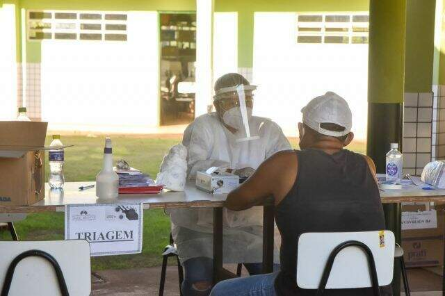 Triagem em atendimento a casos suspeitos de novo coronavírus em Aquidauana (Foto: Divulgação/Prefeitura)