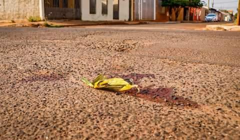 Antes de ser morto a tiros, homem foi prensado por carro contra muro