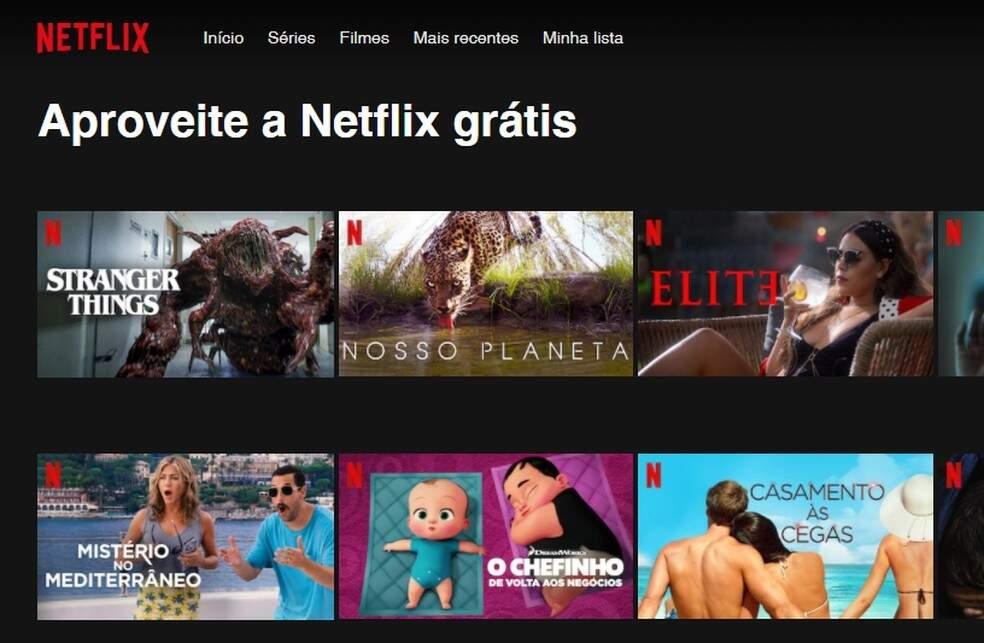 Assista de graça pelo programa Netflix Watch Free. (Foto: Reprodução)
