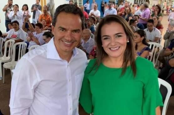 Marquinhos Trad ao lado da vice Adriane Lopes, que deve seguir na função (Foto: Reprodução/Facebook)