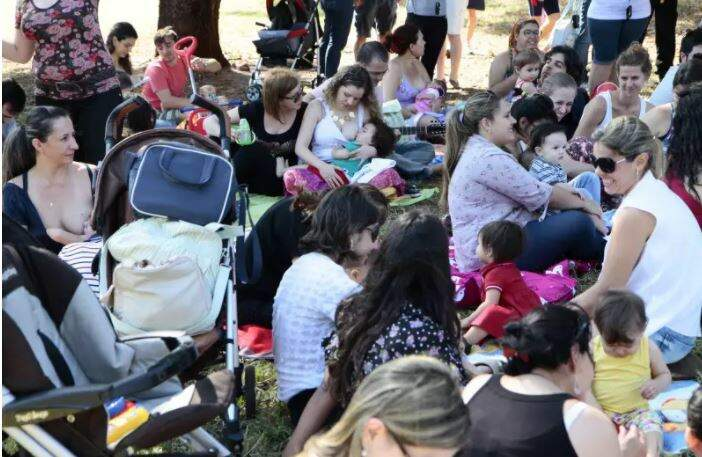 Hora do Mamaço realizada em 2013, no Parque das Nações Indígenas. (Foto: Arquivo/Campo Grande News0