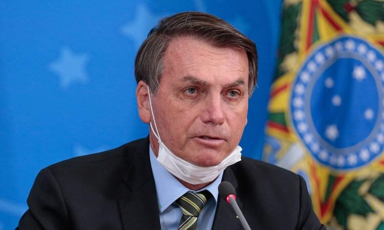 Presidente Jair Bolsonaro durante pronunciamento (Foto: Carolina Antunes/PR)