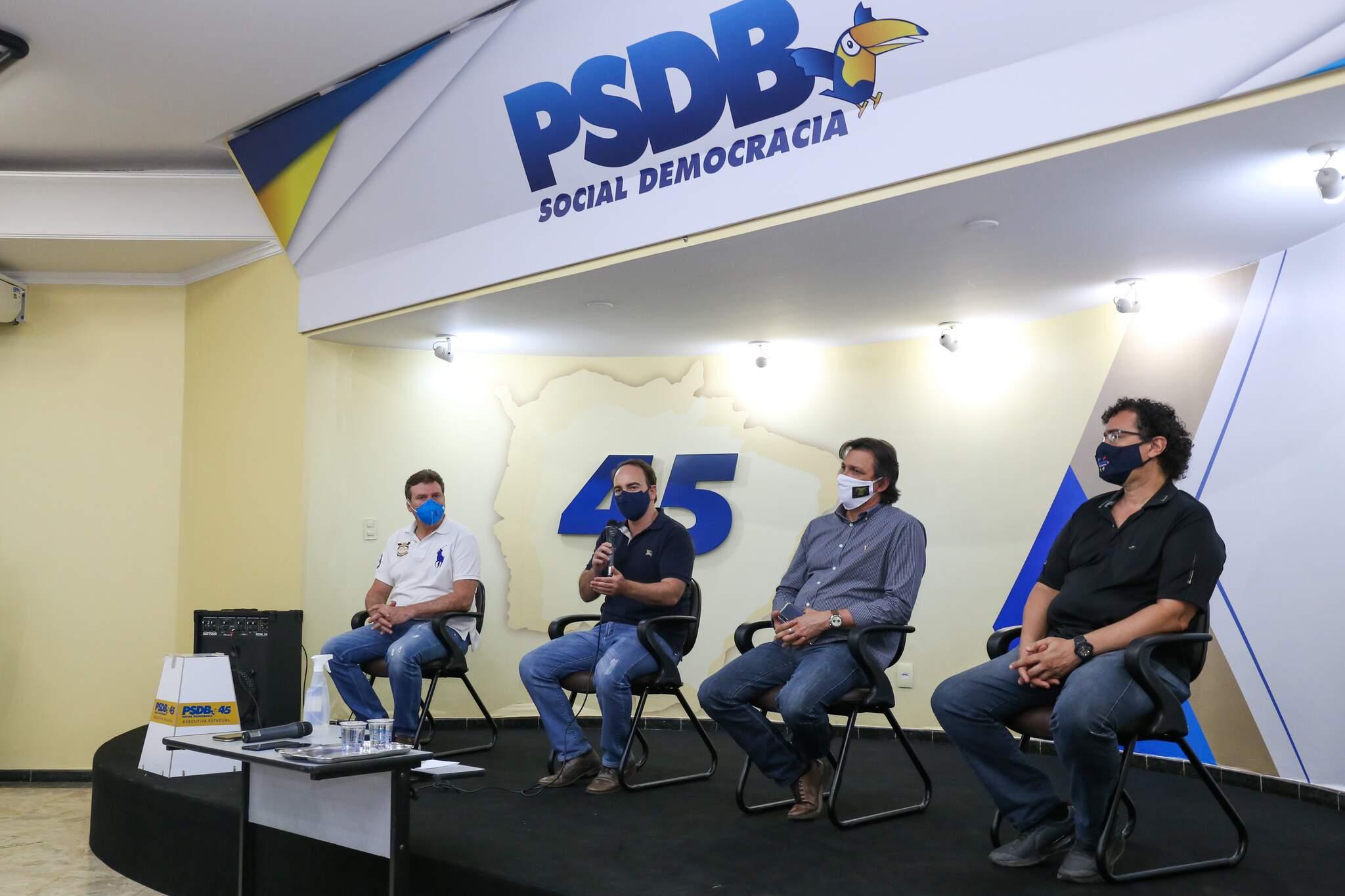 Dirigentes da executiva municipal do PSDB (Foto: Paulo Francis)