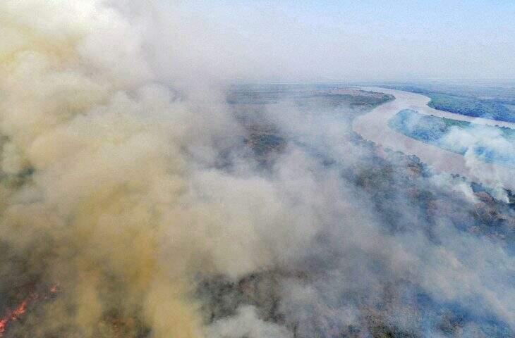 Incêndios se intensificaram no Pantanal no mês de julho (Foto: Divulgação/Governo do Estado)
