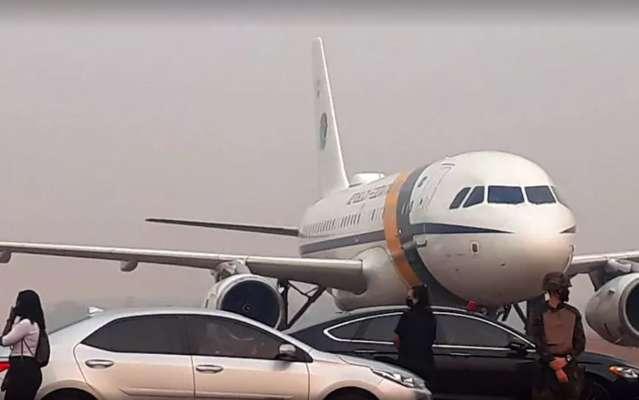 Avião com Bolsonaro arremete por conta de fumaça no Pantanal