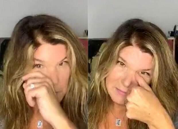 """Cristiana Oliveira se emocionou durante live sobre remake de """"Pantanal"""" (Foto: Reprodução/Instagram)"""
