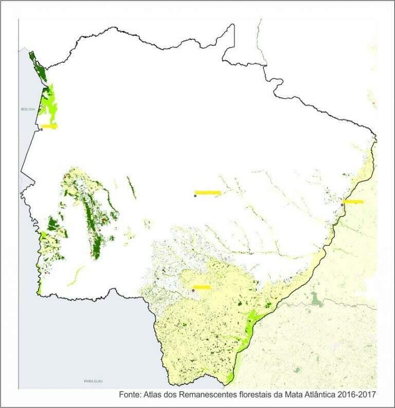 Área do bioma em Mato Grosso do Sul que pode ser fiscalizada (Foto/Divulgação)