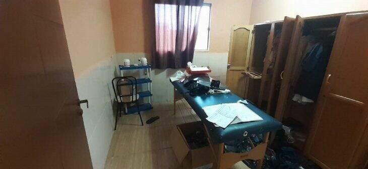 Sala onde a jovem, possivelmente, foi submetida ao procedimento. (Foto: Ultima Hora)