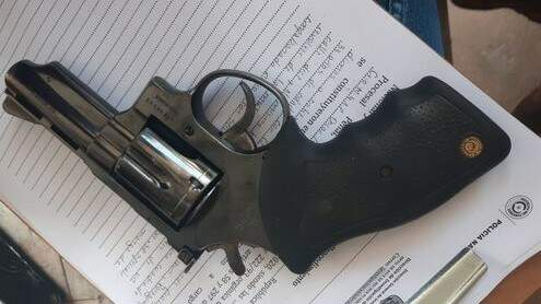 Revólver usado no crime (Foto: Divulgação)