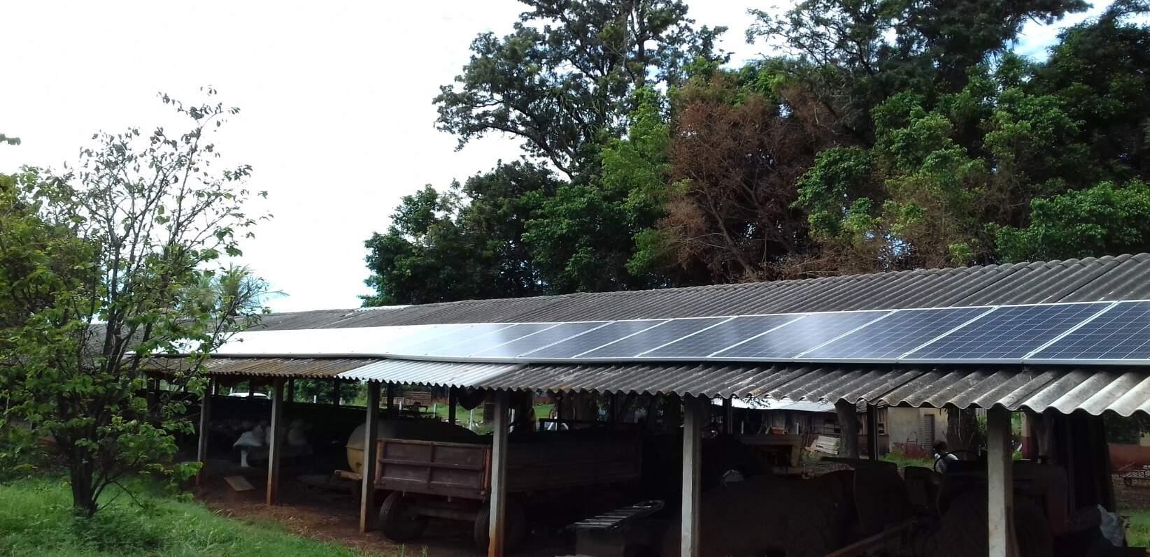 Instalação em Aviário - Área Rural – Terenos MS (Foto: Harmonia Solar)
