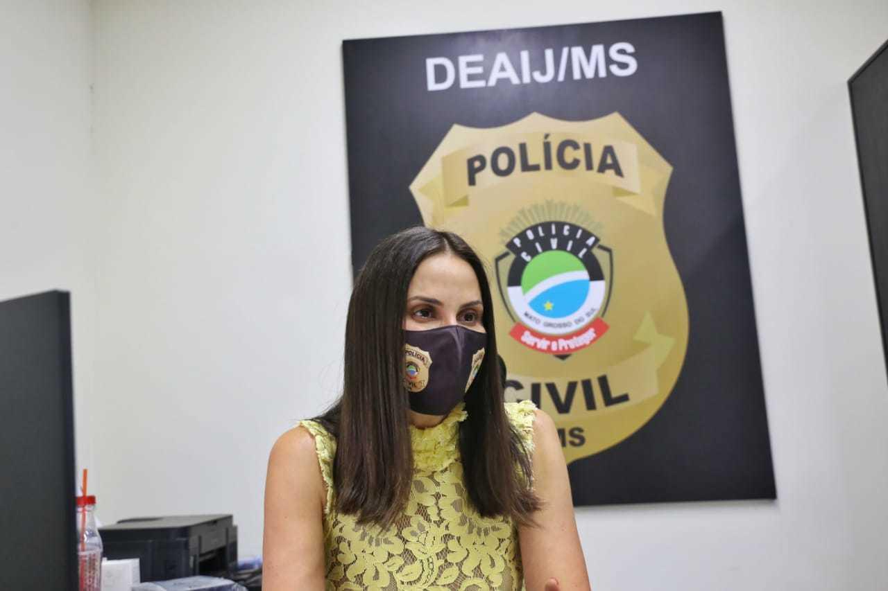 Ariene Nazareth Murad de Souza, titular da Delegacia Especializada de Atendimento à Infância e Juventude (Foto: Paulo Francis)