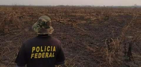 PF já tem provas contra 4 fazendeiros por fogo no Pantanal de MS
