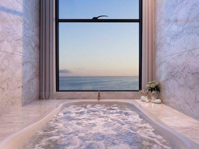 Vista para o mar e banheira de hidromassagem...um sonho possível. (Foto: Divulgação)