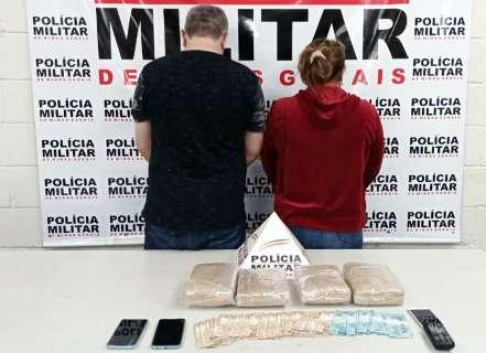 Empresário de MS e mulher são presos com maconha no interior de MG