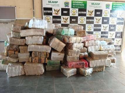Apreendida carreta com mais de três toneladas de maconha na fronteira