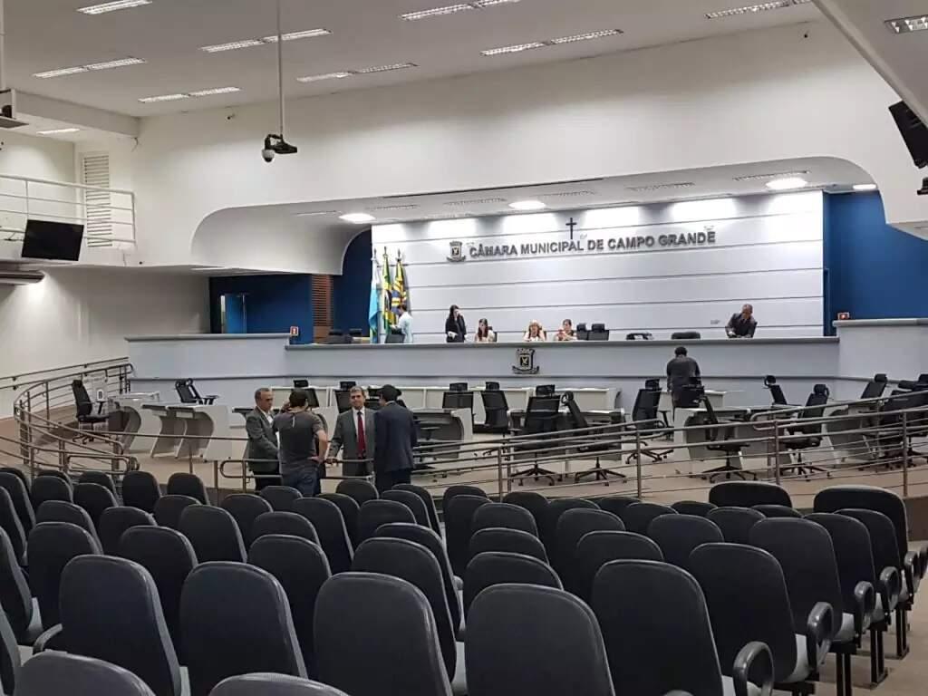 Plenário da Câmara Municipal em Campo Grande (Foto: Liniker Ribeiro - Arquivo)