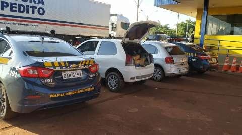 PRF prende cinco traficantes com 228 kg de maconha na BR-163