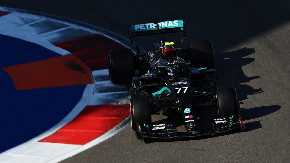 Bottas durante volta no GP da Rússia (Foto: Divulgação)