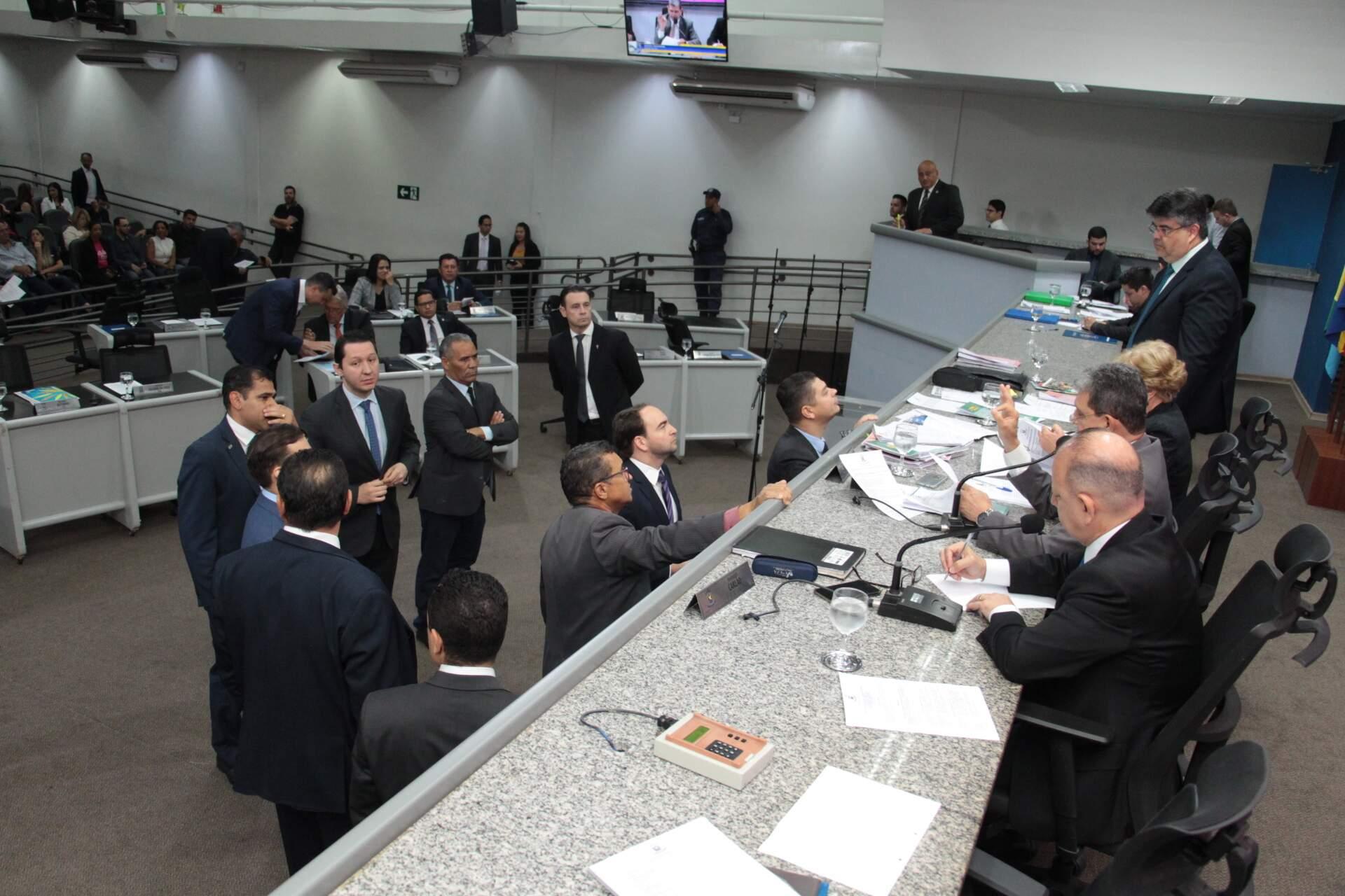 Sessão na Câmara de Campo Grande, antes da pandemia, em outubro do ano passado. (Foto: Divulgação)