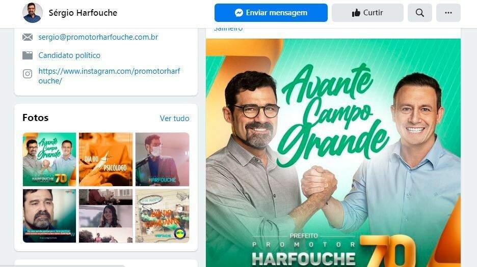Candidato Sérgio Harfouche (Avante), com seu vice, André Salineiro (Avante), nas redes sociais (Foto: Reprodução - Faceook)
