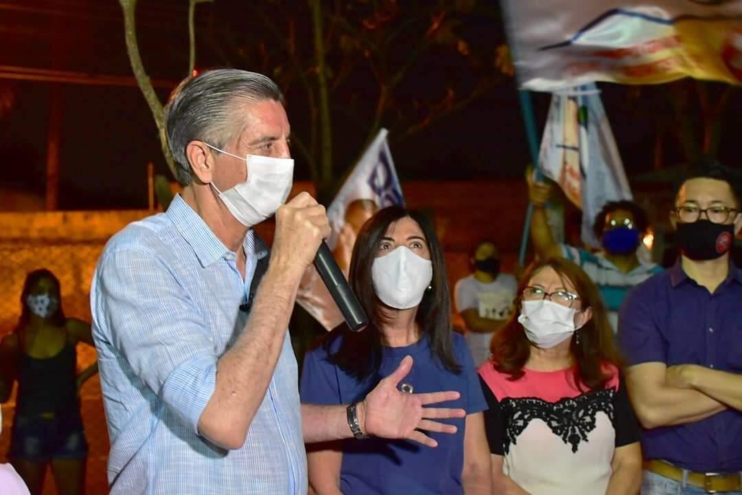 Dagoberto Nogueira (PDT), durante ato de campanha na Capital (Foto: Reprodução - Facebook)