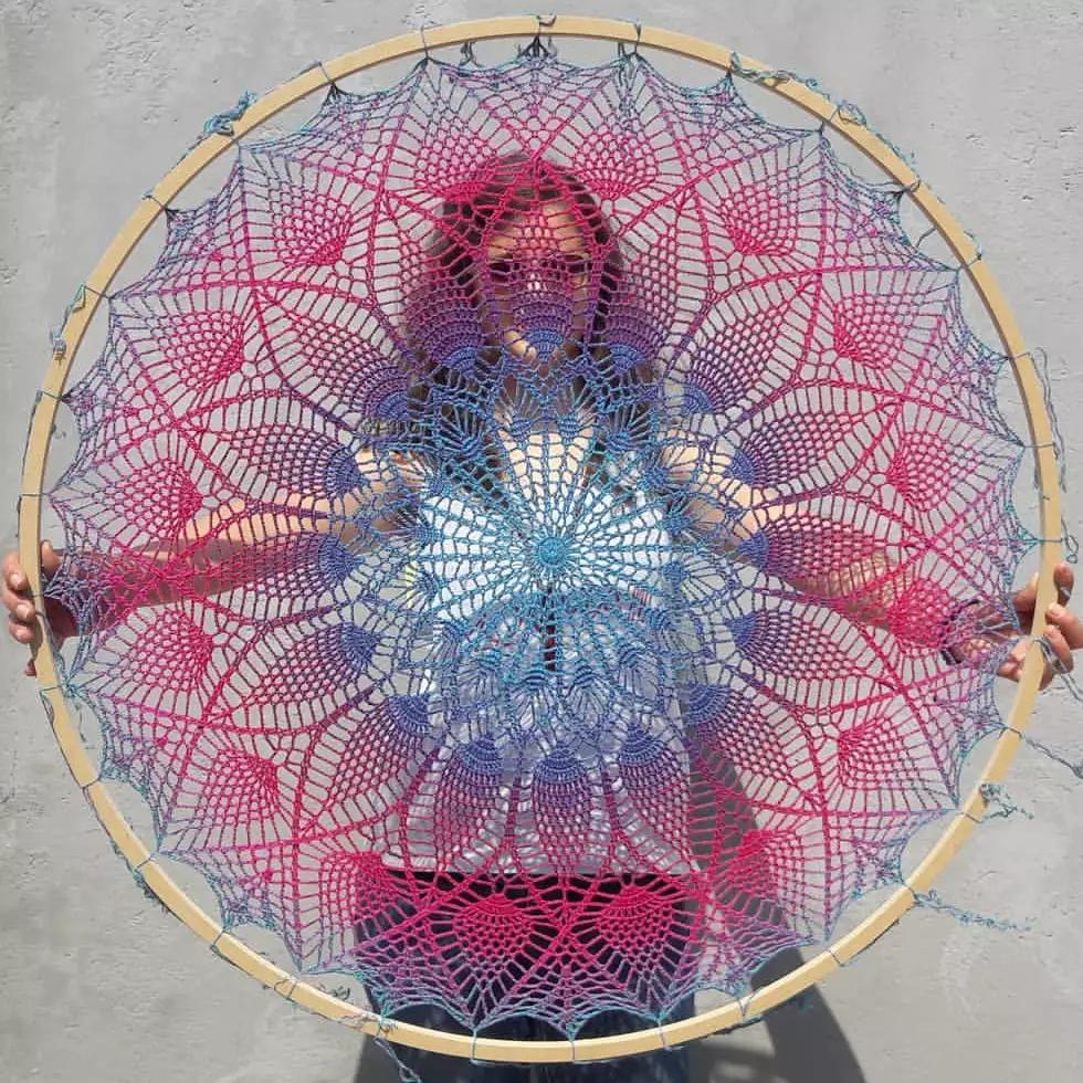 Mandalas de tamanho enorme são a sensação da clientela da paulistana (Foto: Arquivo Pessoal)