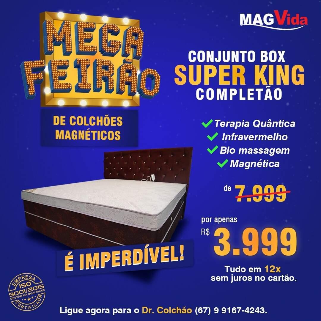 Promoção Mega Feirão Conjunto Box Super King Completo (Foto: Divulgação)