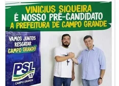 Até a véspera da convenção, Loester apoiava candidatura de Siqueira (Foto: Reprodução/Facebook)