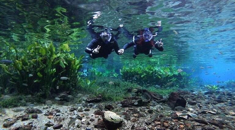 Rio de águas cristalinas em Bonito. (Foto: Divulgação)
