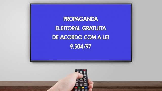 Com 10 minutos de transmissão, programa eleitoral na TV começa hoje