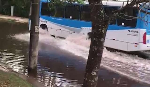 Boca de lobo entupida cria novo lago na região do Parque das Nações Indígenas