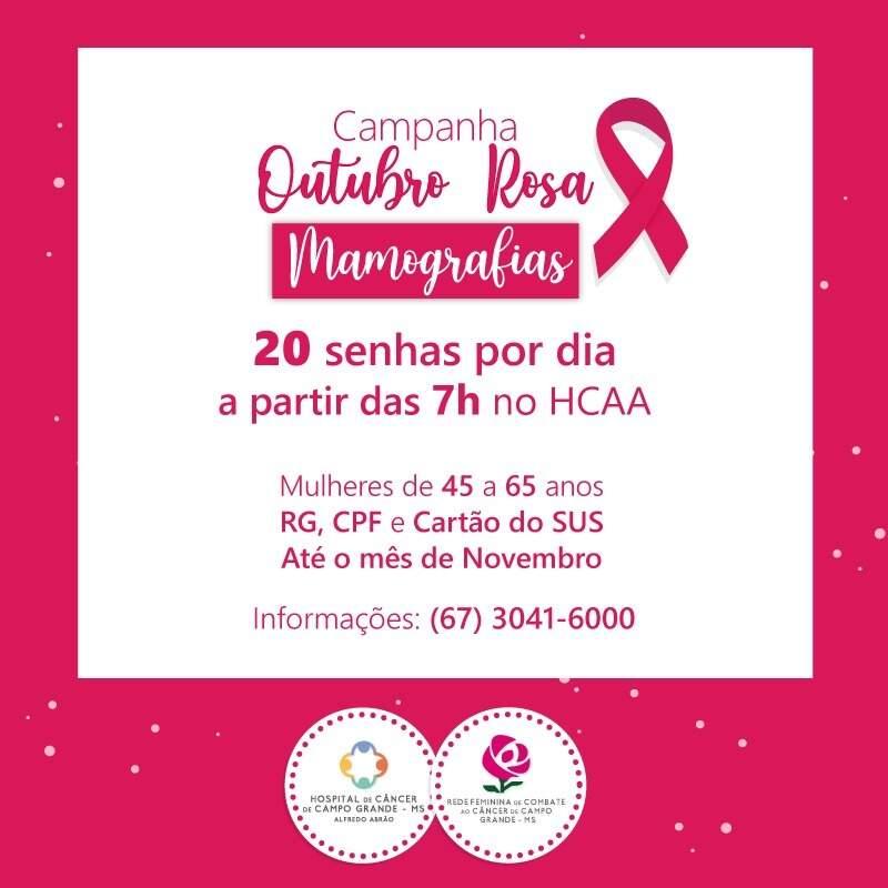 Arte da campanha disponibilizada nas redes sociais do hospital. (Foto: Divulgação / HCAA)