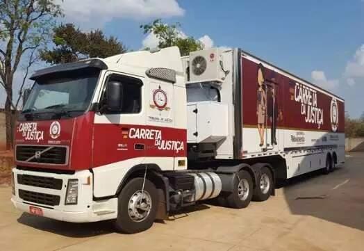Carreta da Justiça, unidade móvel do Judiciário que volta a atender em novembro. (Foto: Divulgação)
