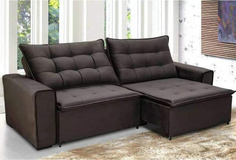 Stilo, sofá de R$ 3.399 sai só R$ 2.799, ou em 10 sem juros de R$ 279,90. (Foto: Divulgação)