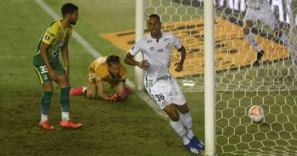 Gol do Santos marcado durante a partida desta noite. (Fotos: Ivan Storti/Santos FC)