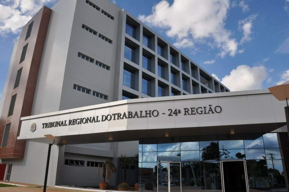 Sede do Tribunal Regional do Trabalho, em Campo Grande