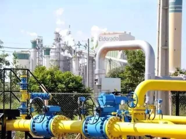 Gás natural é fonte energética de várias indústrias, como por exemplo a Eldorado Celuso, em Três Lagoas (Foto: MSGás/Divulgação)